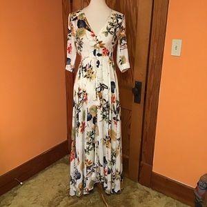 Vintage inspired hippie boho gypsy flowy dress